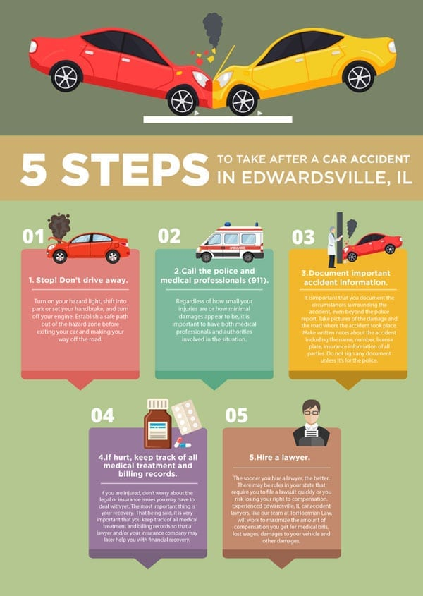 5 Steps to Take After a Car Accident in Edwardsville, IL